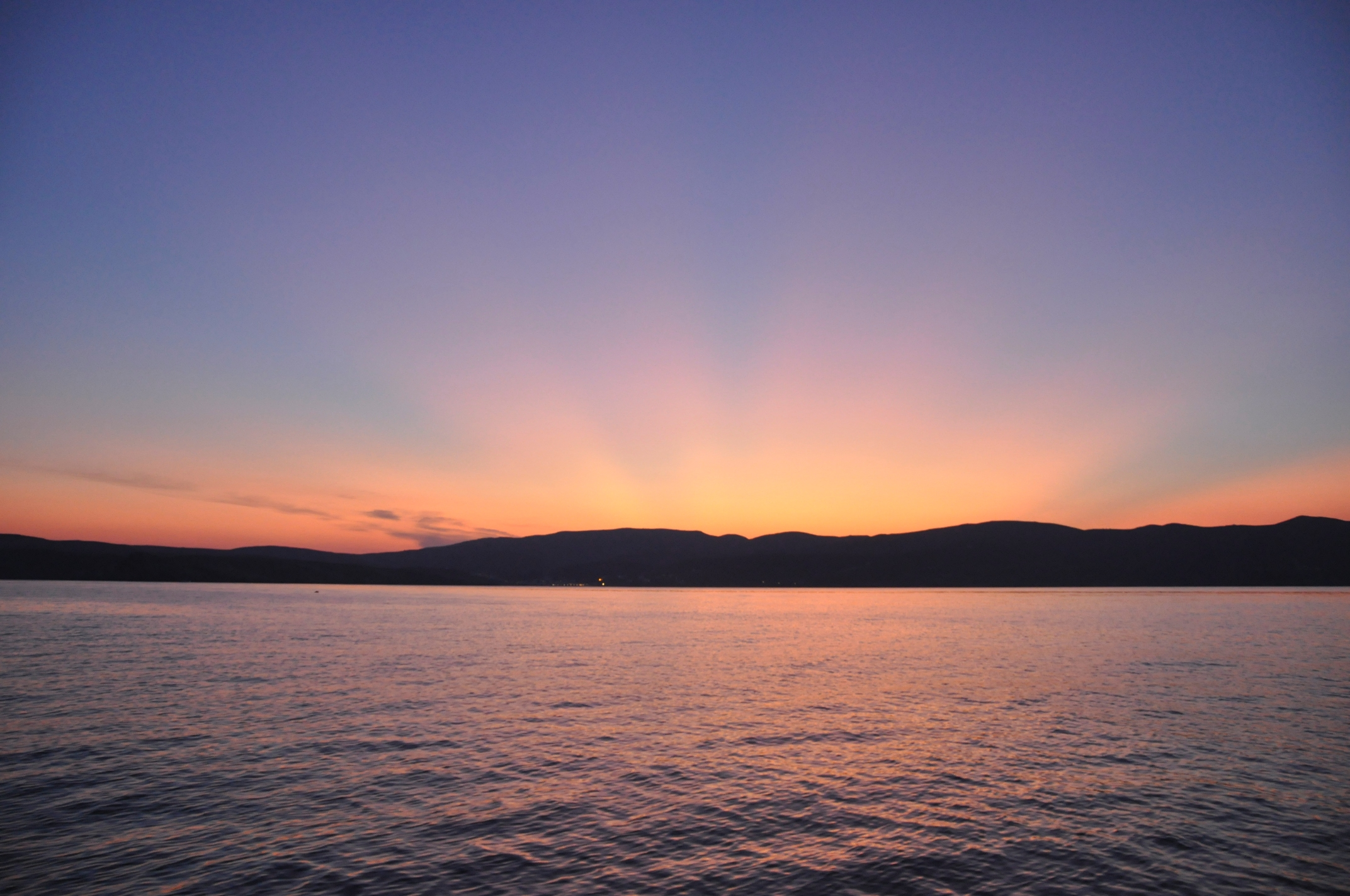 zachód słońca nad Cykladami