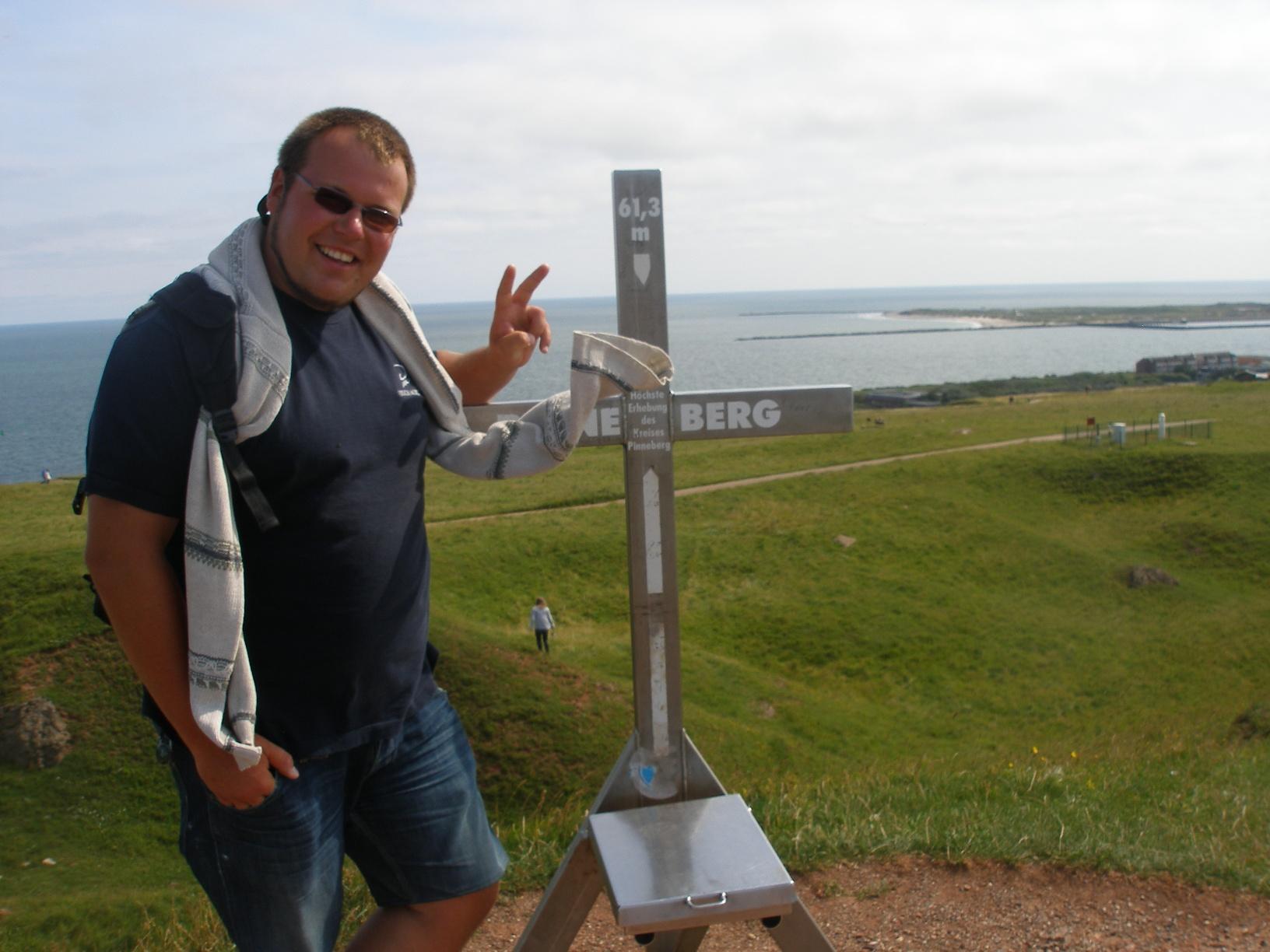 rejsy morskie morze północne, Najwyższy szczyt Helgolandu zdobyty