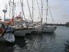 rejsy morskie morze północne, Główna marina na Helgolandzie. Ciasnawo